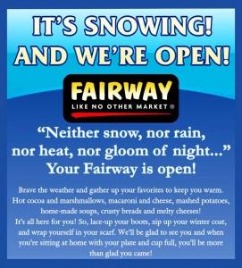 Fairway invites its customers