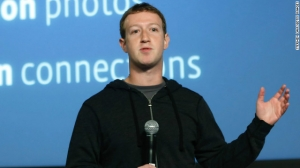 "Mark Zuckerberg in his ""hoodie."""