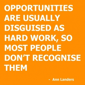 Recognize opportunities.